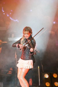 Lindsey Stirling performing at Starlight Theatre in Kansas City, Missouri on July 6, 2018.
