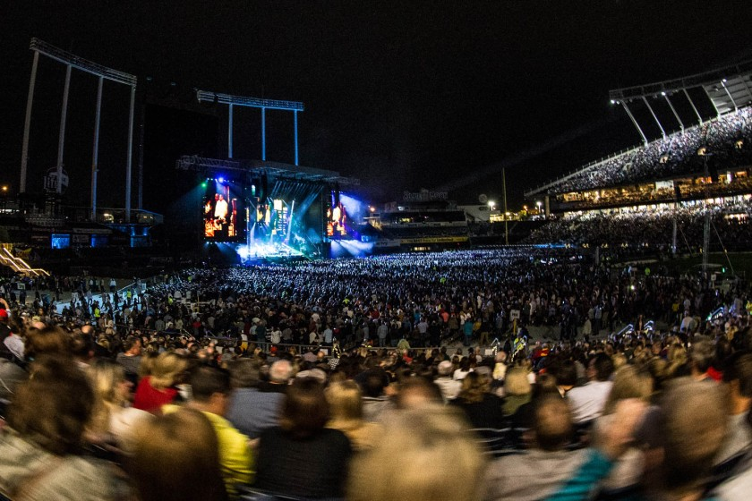 Crowd for the Billy Joel concert at Kauffman Stadium in Kansas City, Missouri on Friday, September 21, 2018.