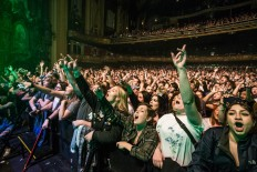 Fans enjoying Catfish and the Bottlemen performing at the Arvest Bank Theatre at The Midland on March 31, 2019