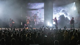 I Prevail performing at the Arvest Bank Theatre at The Midland on April 24, 2019.