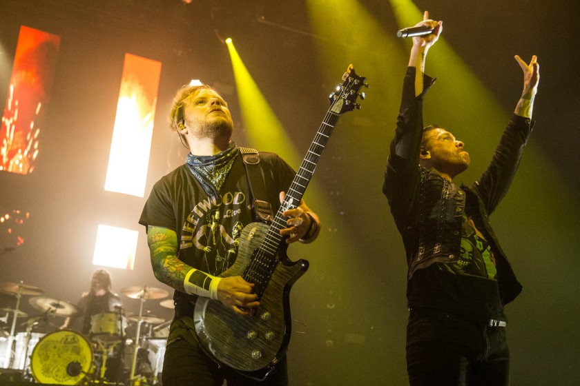 Zach Myers and Brent Smith of Shinedown