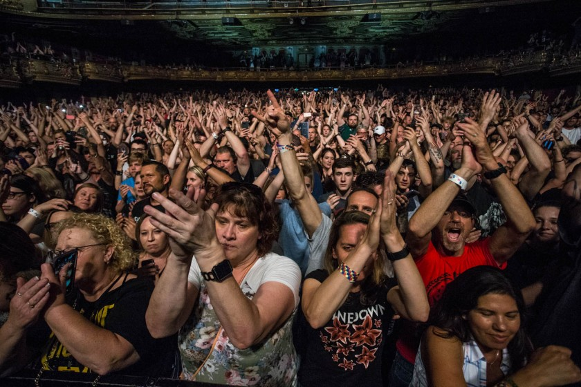 Sold out crowd at the Shinedownconcert in Kansas City, MO on May 22, 2019.