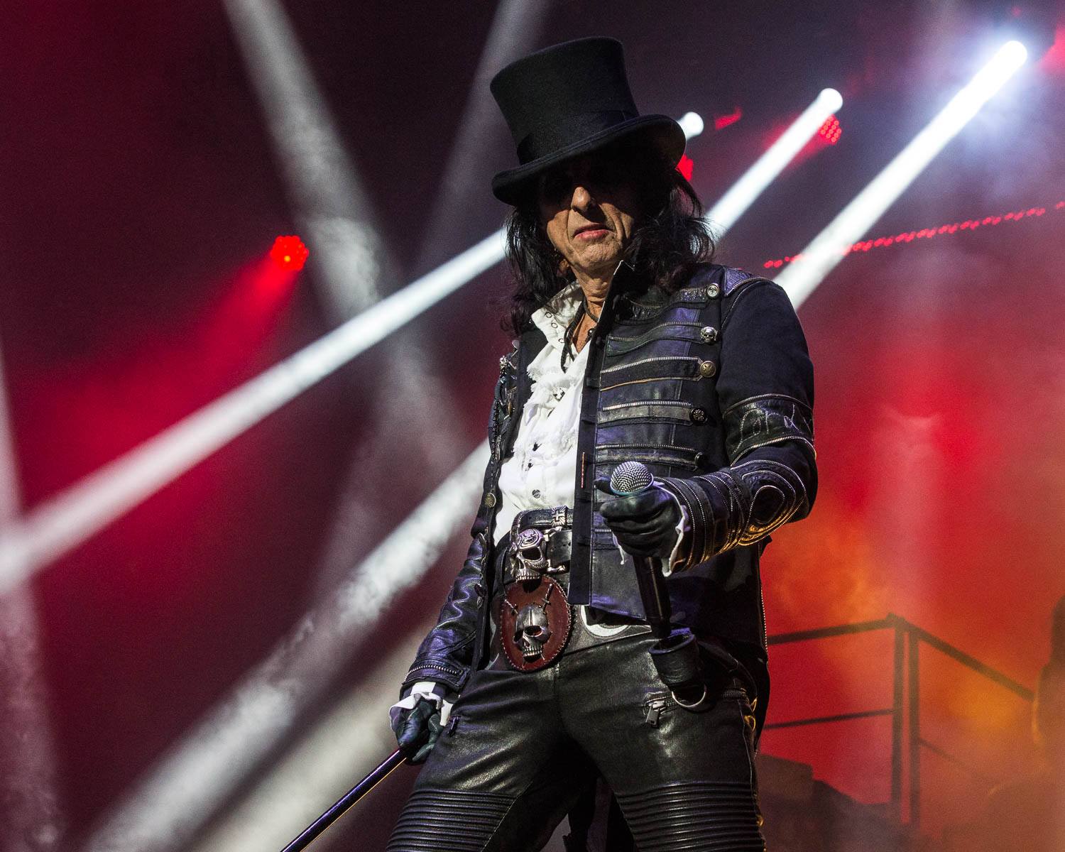 Alice Cooper performing at Starlight Theatre in Kansas City, Missouri on July 26, 2019.