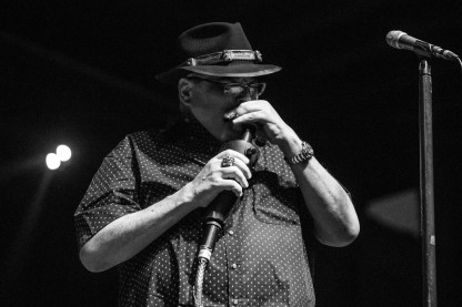John Popper, lead vocalist and harmonicist of Blues Traveller