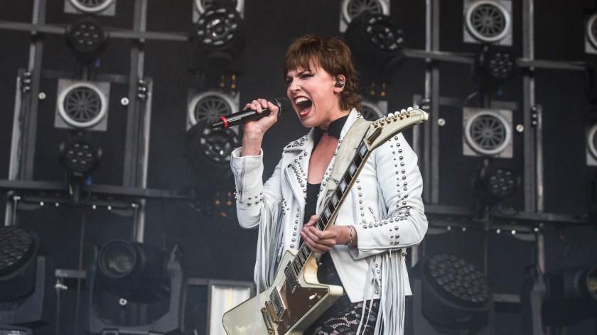 Lzzy Hale, lead singer of Halestorm