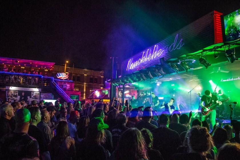 Scott Stapp performing at Knuckleheads Saloon in Kansas City, Missouri, on Jul 2, 2019.