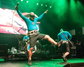 The M.C. Bat Commander (Christian Jacobs), lead vocalist of The Aquabats