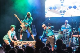 The Aquabats performing at the Uptown Theater in Kansas City, Missouri on July 12, 2019.