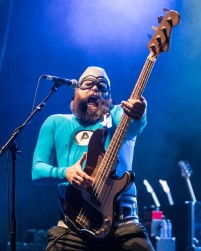 Crash McLarson (Chad Larson), bass guitarist of The Aquabats