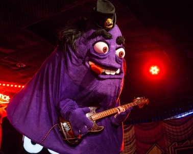 Grimalice, bass guitarist of Mac Sabbath