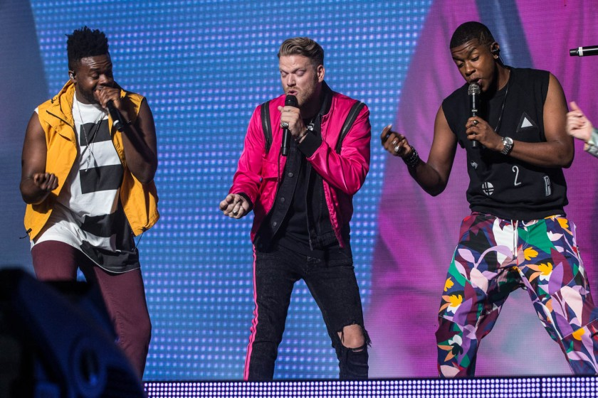 Kevin Olusa (KO), Scott Hoying, and Matt Sallee of Pentatonix