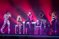 Pentatonix performing at Starlight Theatre in Kansas City, Missouri on August 13, 2019