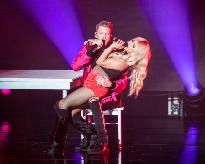 Scott Hoying and Kirstin Maldonado of Pentatonix