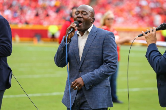 CAMMO singers perform at halftime during the game between the Kansas City Chiefs and the Baltimore Ravens at Arrowhead Stadium on September 22, 2019.