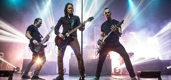 Alter Bridge performing at the Arvest Bank Theatre at The Midland in Kansas City, Missouri on October 11, 2019.