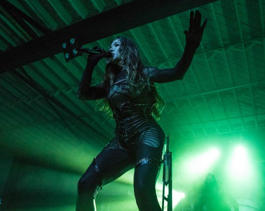 Lauren Hart of Once Human performing with Kamelot