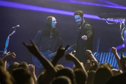 Tommy Karevik and Thomas Youngblood of Kamelot