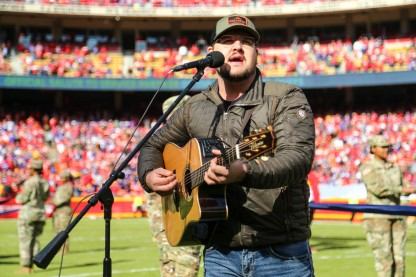 Dexter Roberts performing at Arrowhead Stadium on November 3, 2019.