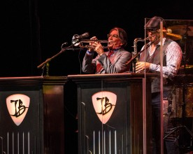 Joe Bonamassa's trumpeter Lee Thornburg and saxophonist Paulie Cerra