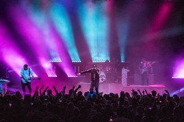 Angels and Airwaves performing at the Arvest Bank Theatre at The Midland on December 19, 2019.