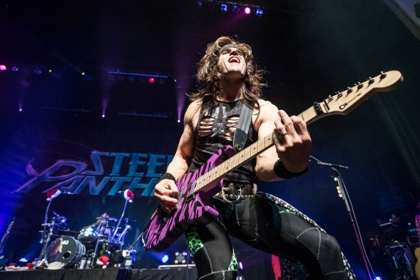 Satchel, lead guitarist of Steel Panther