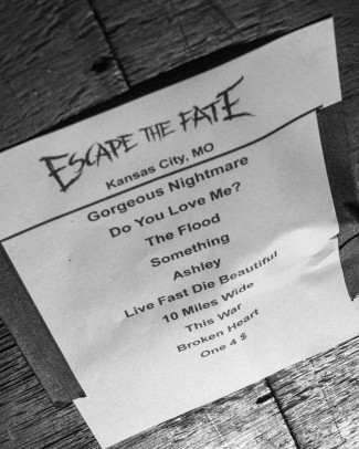 Escape the Fate setlist for Kansas City, MO on February 24, 2020