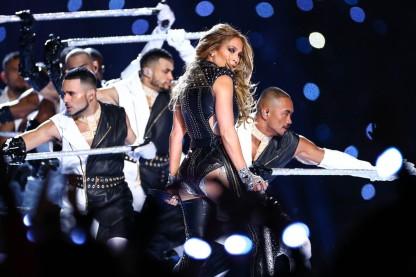 Jennifer Lopez during the Super Bowl LIV halftime show