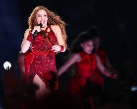 Shakira during the Super Bowl LIV halftime show