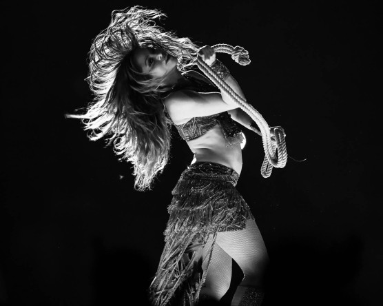 Shakira during the Super Bowl LIV halftime show