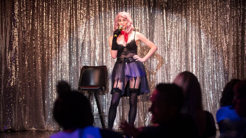 Comedian Stacy Cay during the Comedy Cabaret at Missie B's in Kansas City, MO on June 29, 2021