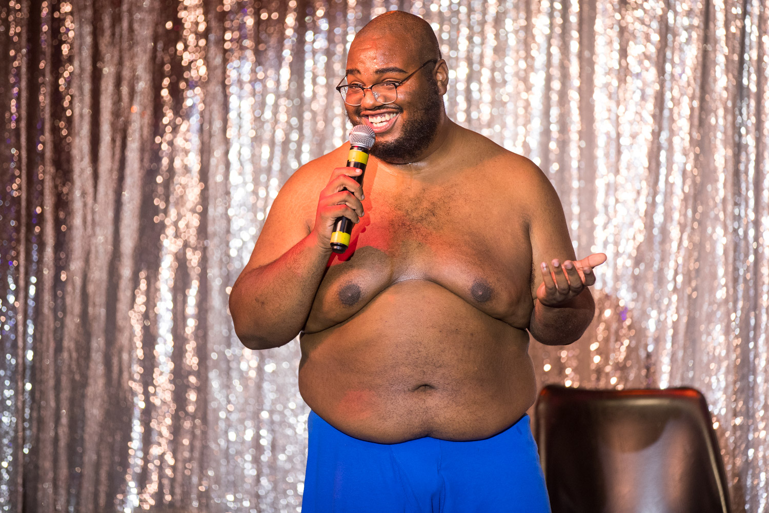 Comedian Dorian Debose during the Comedy Cabaret at Missie B's in Kansas City, MO on June 29, 2021