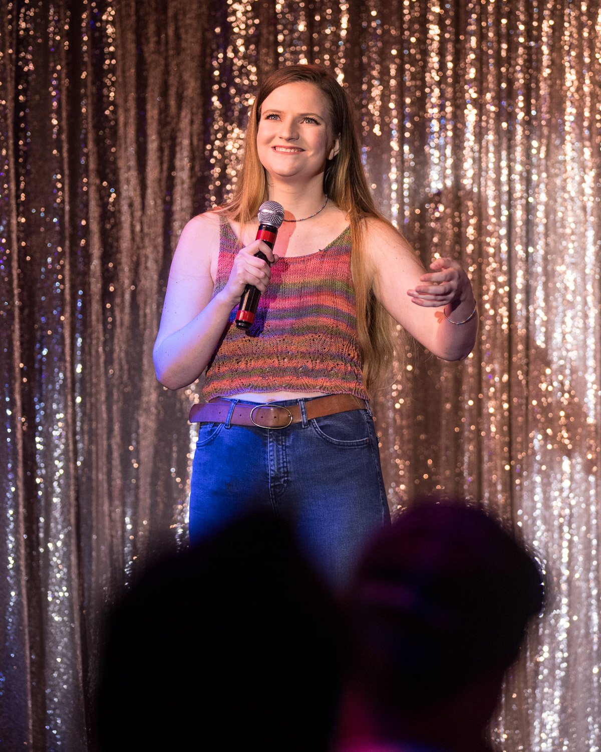 Comedian Kaitlin Rounds during the Comedy Cabaret at Missie B's in Kansas City, MO on June 29, 2021