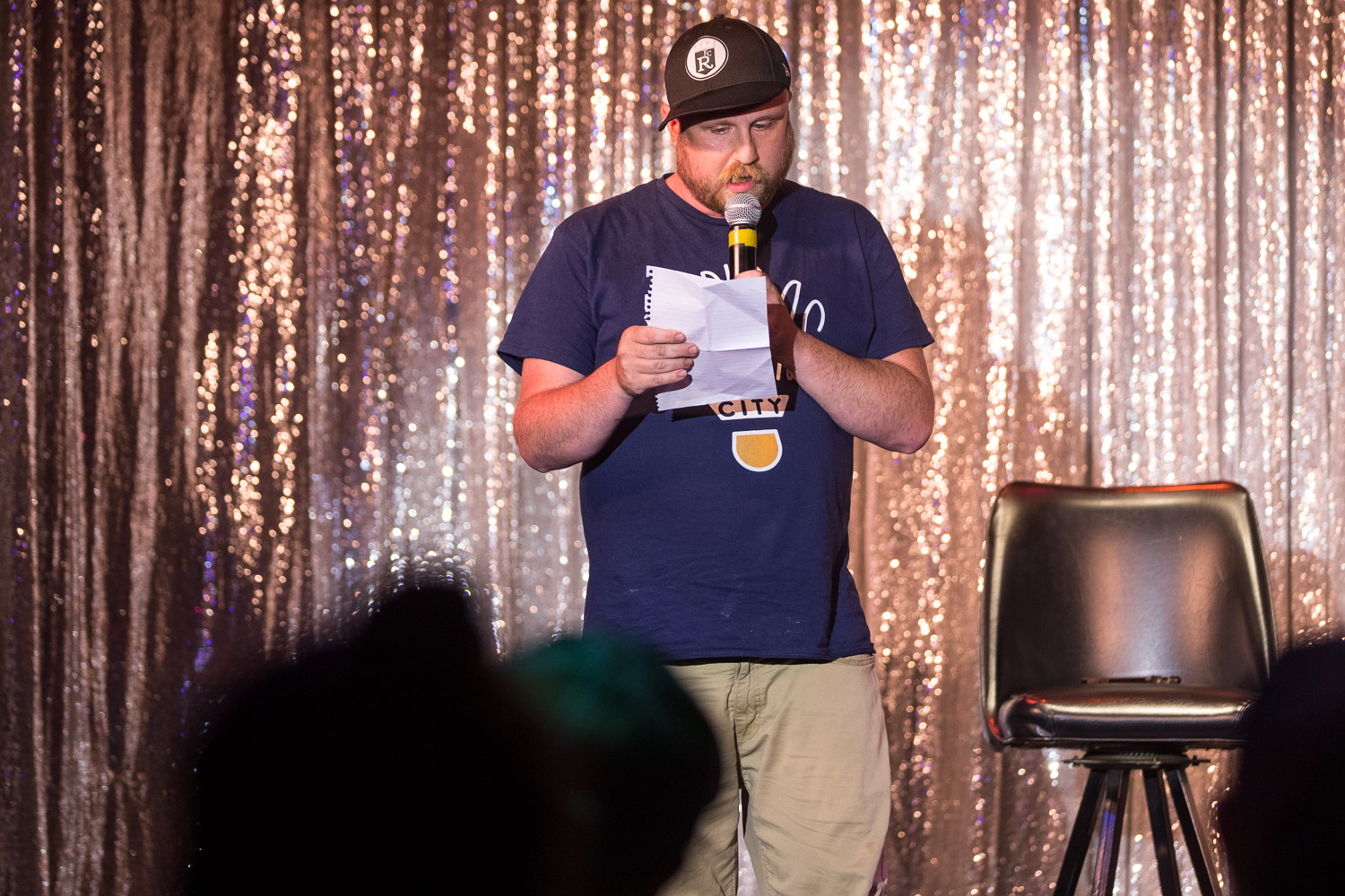 Comedian Kyle Hopkins during the Comedy Cabaret at Missie B's in Kansas City, MO on June 29, 2021