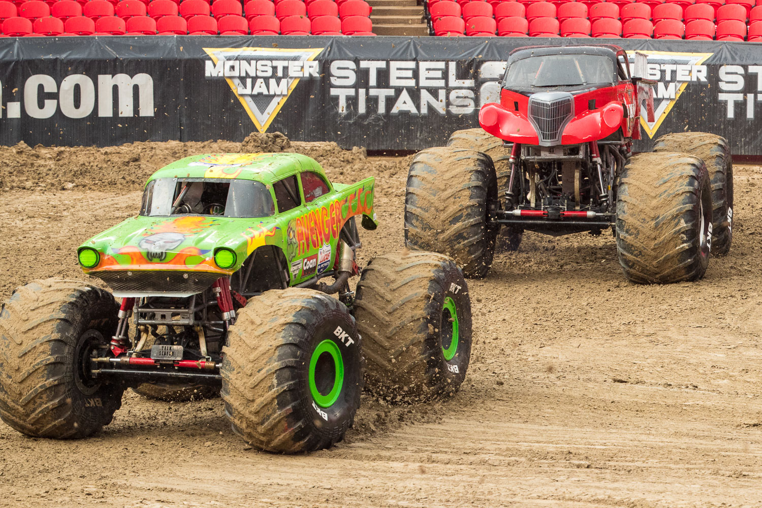 Avenger, driven by Jim Koehler during Monster Jam at GEHA Field at Arrowhead on Saturday evening, June 26, 2021.