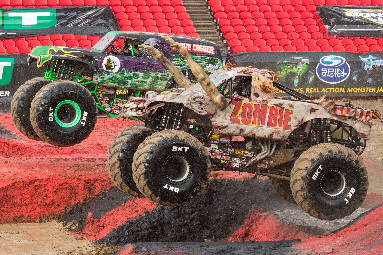 Zombie, driven by Bari Musawwir during Monster Jam at GEHA Field at Arrowhead on Saturday evening, June 26, 2021.