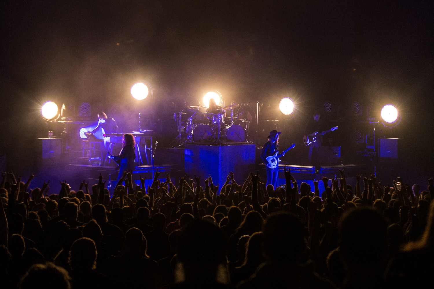 Opeth performing at the Arvest Bank Theatre at The Midland in Kansas City, MO on March 1, 2020