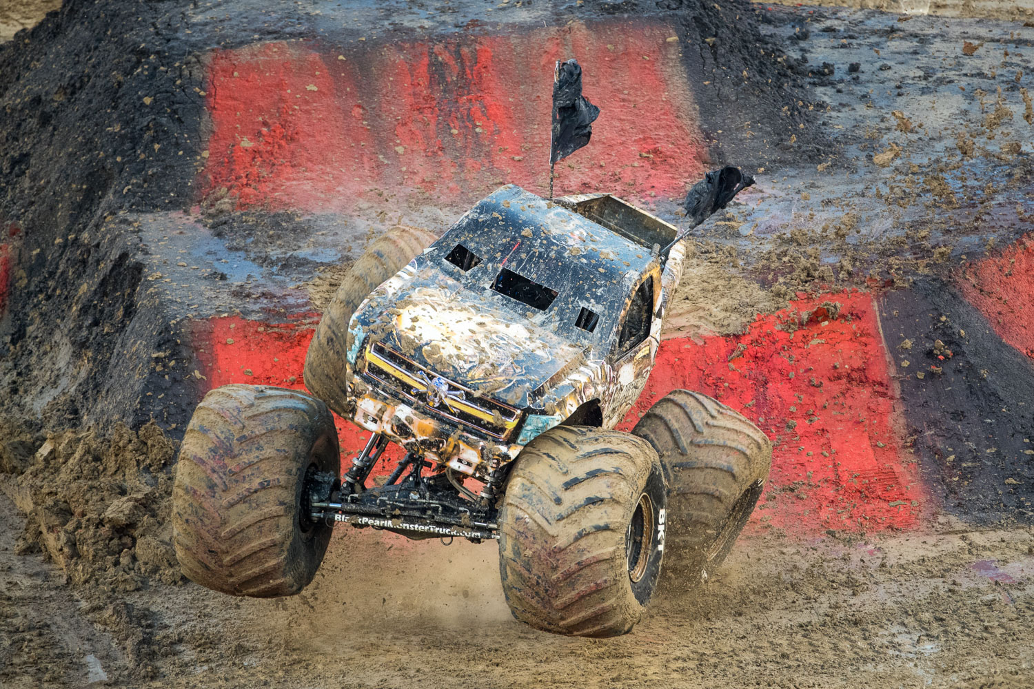 Black Pearl, driven by Cole Venard during Monster Jam at GEHA Field at Arrowhead on Saturday evening, June 26, 2021.
