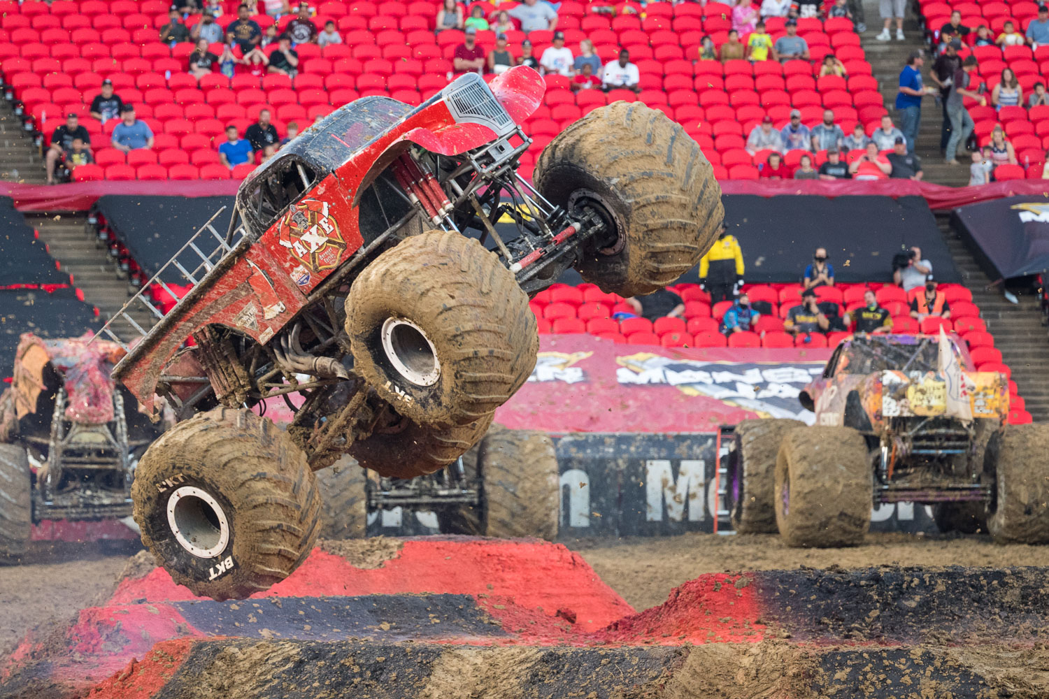 AXE, driven by Chris Koehler during Monster Jam at GEHA Field at Arrowhead on Saturday evening, June 26, 2021.