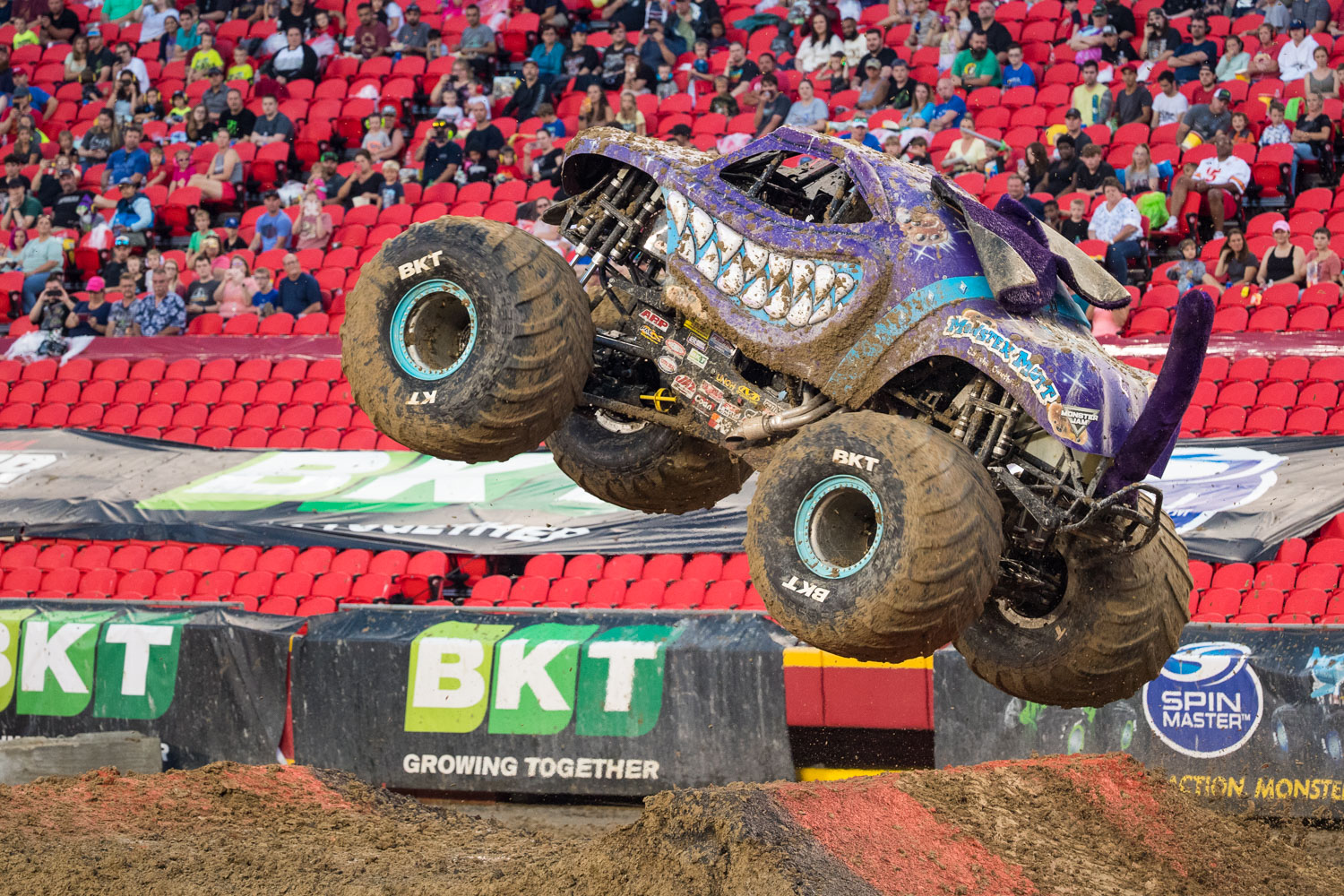 Monster Mutt, driven by Cynthia Gauthier during Monster Jam at GEHA Field at Arrowhead on Saturday evening, June 26, 2021.