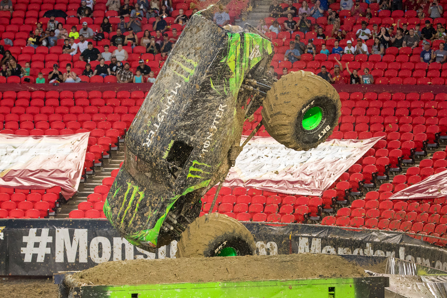 Monster Energy, driven by Todd LeDuc during Monster Jam at GEHA Field at Arrowhead on Saturday evening, June 26, 2021.