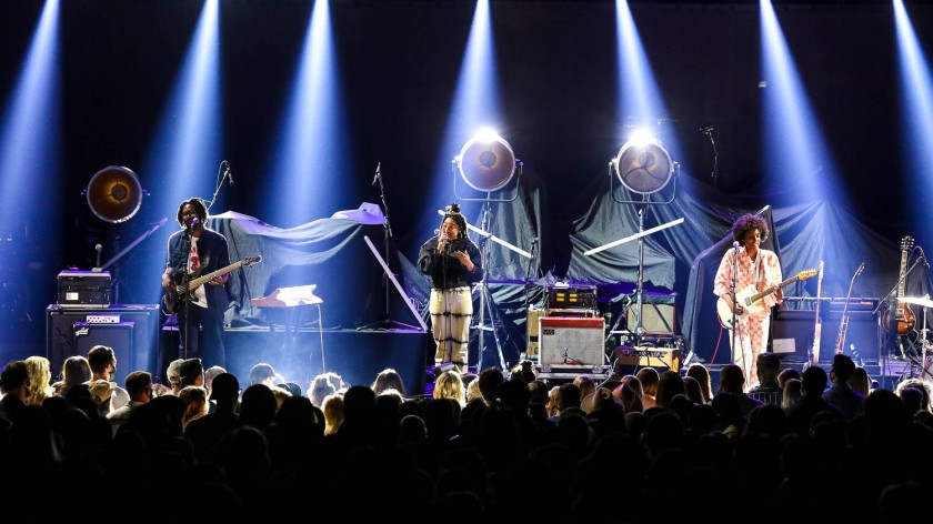 The New Respects performing at the Arvest Bank Theatre at The Midland in Kansas City, Missouri on September 8, 2021
