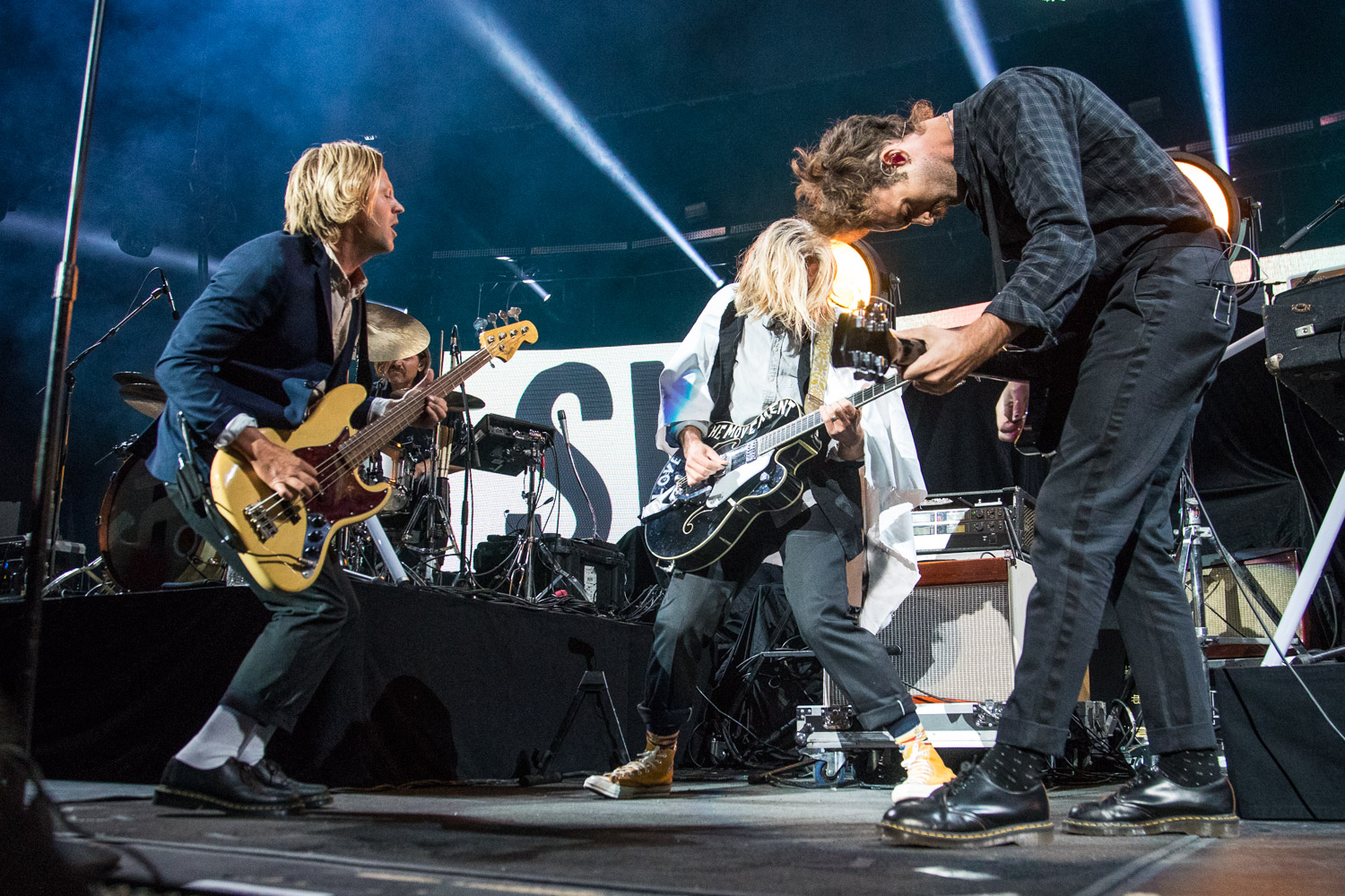 Tim Foreman, Jon Foreman, and Boaz Roberts of Switchfoot