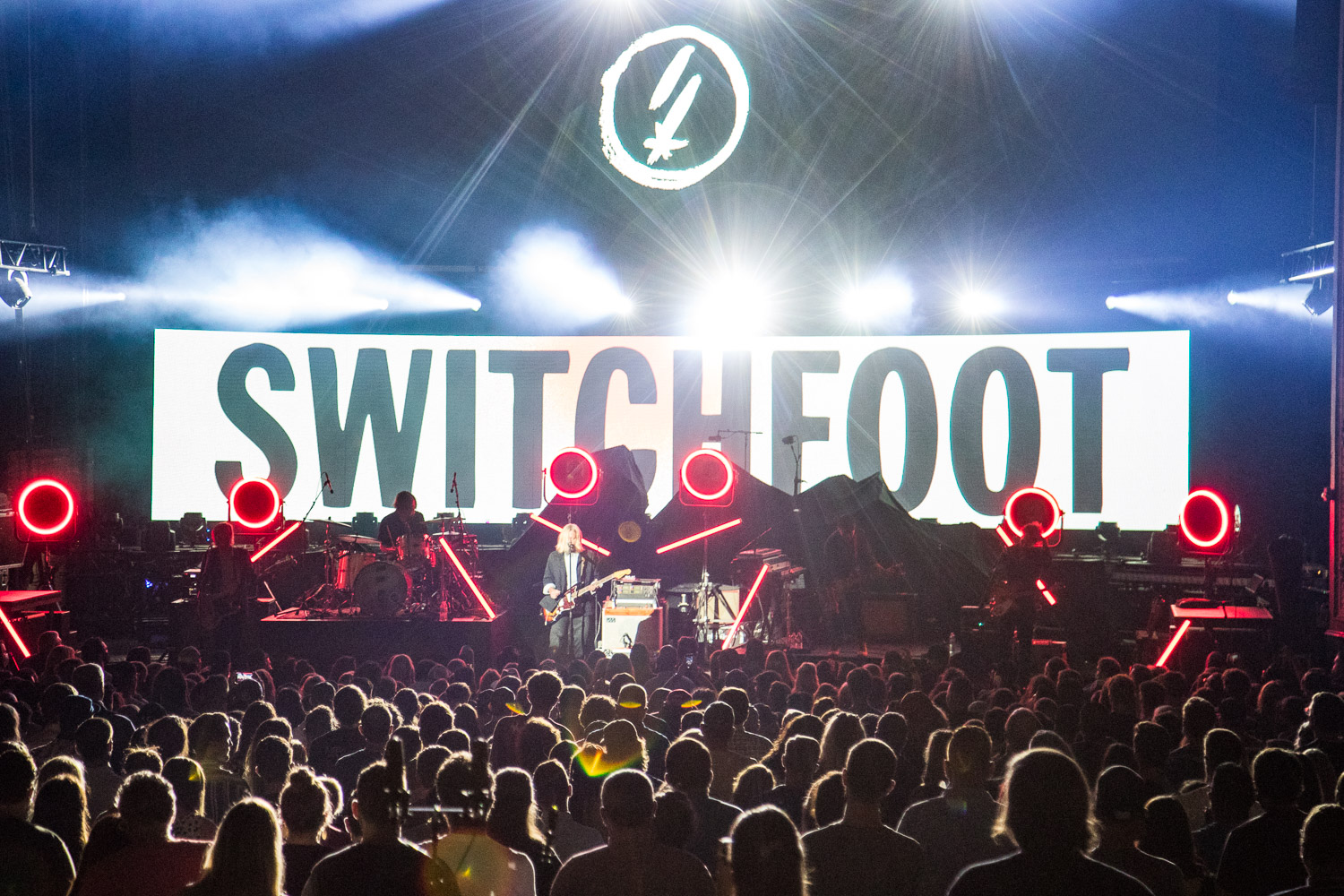Switchfoot performing at the Arvest Bank Theatre at The Midland in Kansas City, Missouri on September 8, 2021